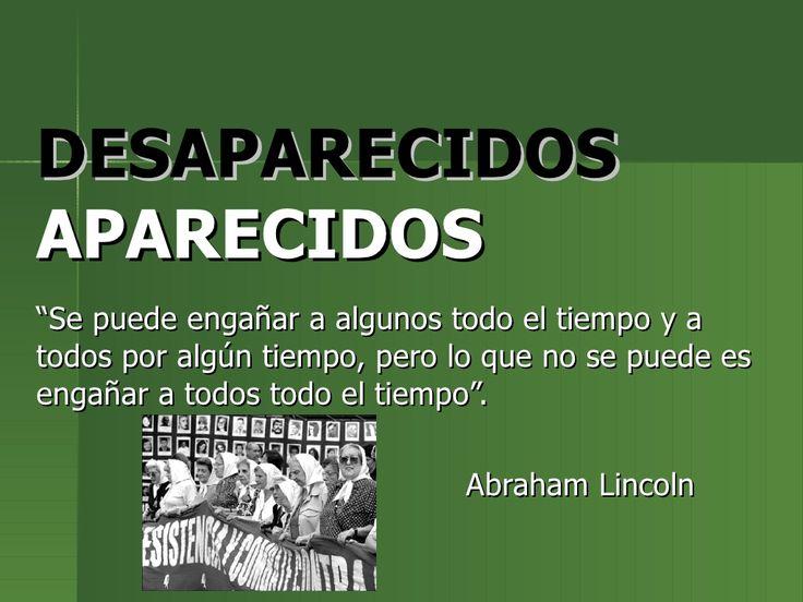 Desaparecidos dictadura militar Argentina 1976 by Gato Gaston via slideshare