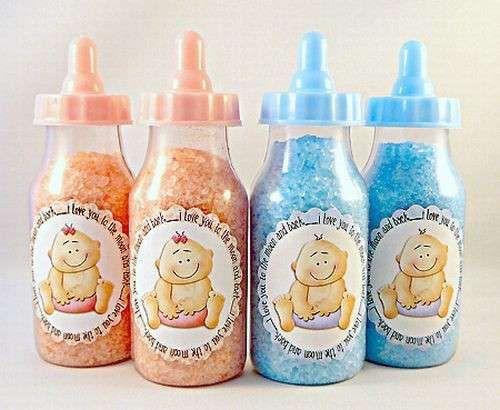 Decoración para baby shower: ideas originales - Biberones para baby shower