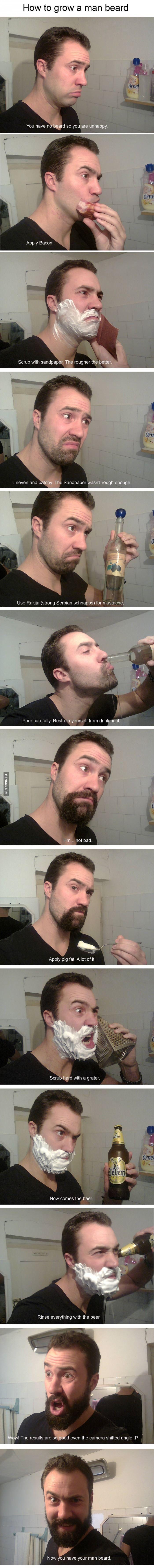 How to grow a man beard.