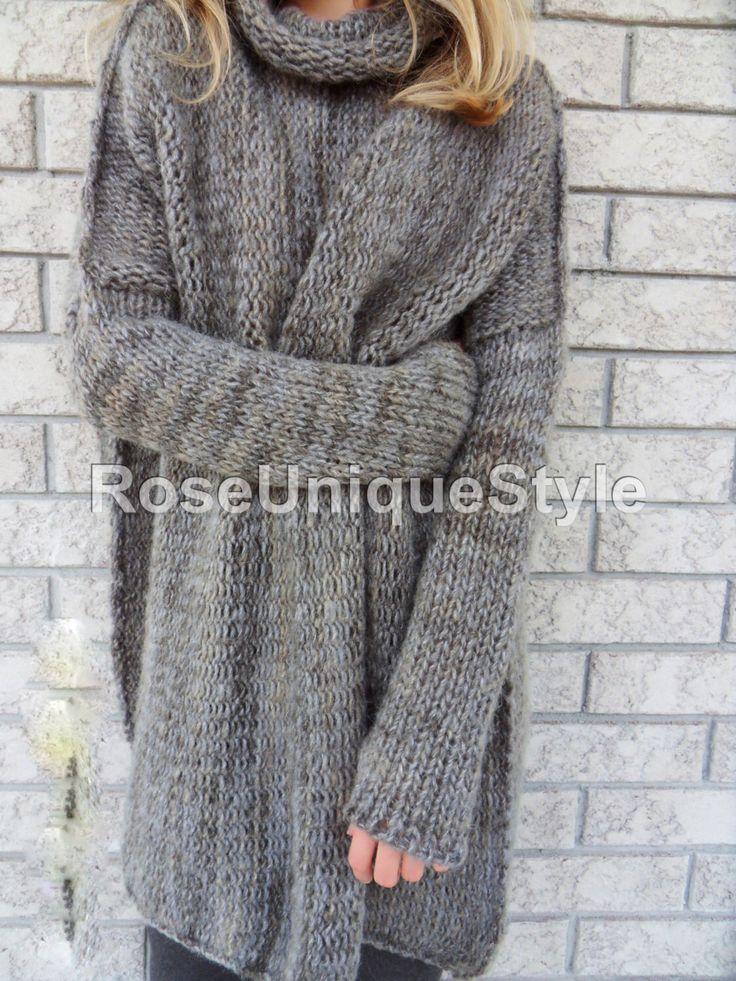 Slouchy/grof/Oversized trui. Dikke gebreide trui. Marmer grijze trui. Losse fit wollen trui. door RoseUniqueStyle op Etsy https://www.etsy.com/nl/listing/239478035/slouchygrofoversized-trui-dikke-gebreide