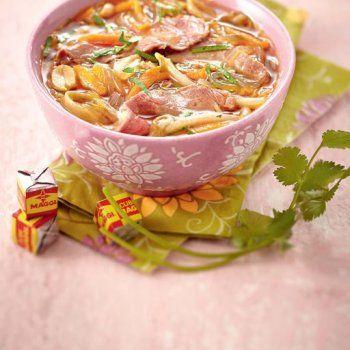 Bouillon thaï au bœuf