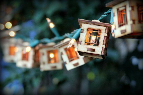 Patio String Lights. Electrolites  Craftsman Style by 1Man1Garage