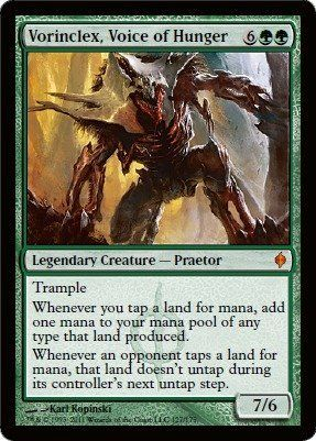 Magic: the Gathering - Vorinclex, Voice of Hunger - New Phyrexia by Wizards of the Coast. $7.98. From the New Phyrexia set.. This is of Mythic Rare rarity.. A single individual card from the Magic: the Gathering (MTG) trading and collectible card game (TCG/CCG).. Magic: the Gathering is a collectible card game created by Richard Garfield. In Magic, you play the role of a planeswalker who fights other planeswalkers for glory, knowledge, and conquest. Your deck of...