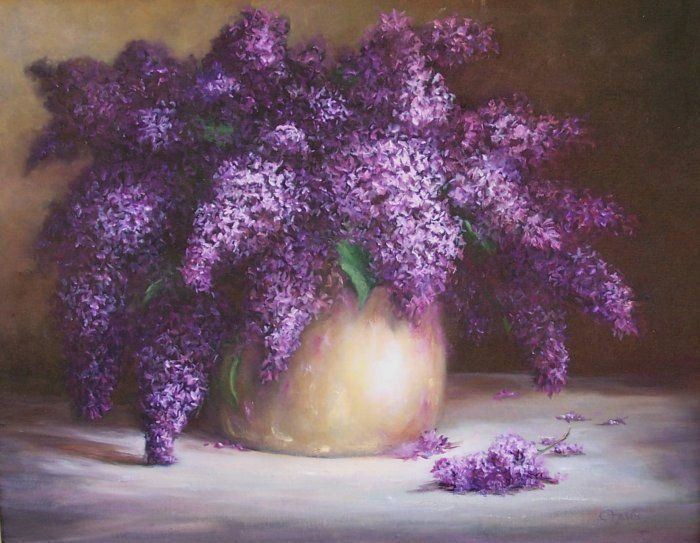 Lilacs, 16x20, oil.  Available in my Ebay Store.