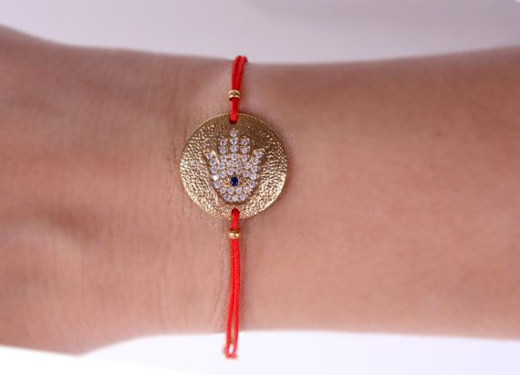 Hamsa bracelet Hand of Fatima Jewelry Gold Filled by appax on Etsy