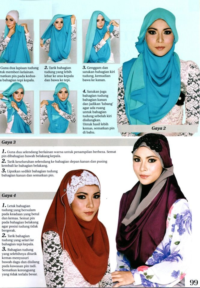 How to wear hijab fashionably