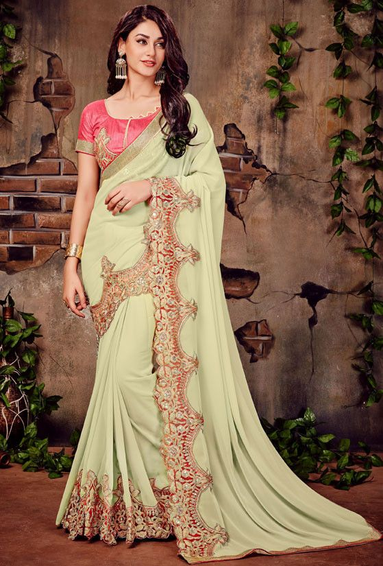 Distinguished Dusty Cream Saree - Sarees - Women