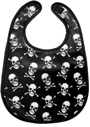 Skull bib - pure awesome.