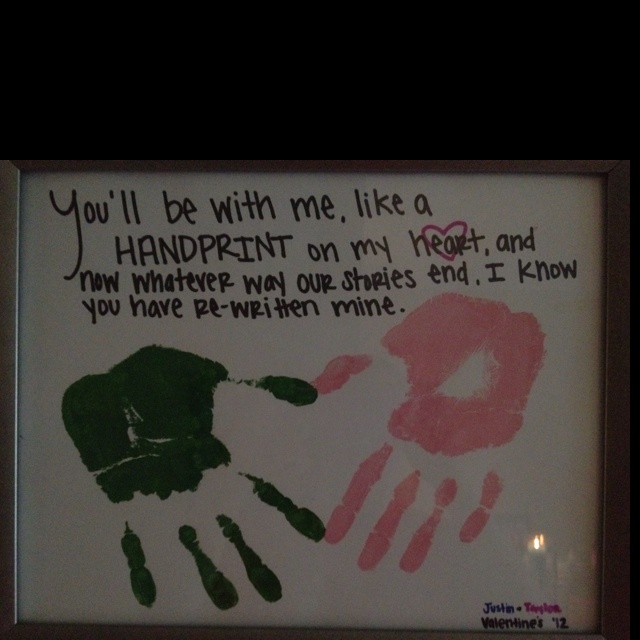 Cute Toddler Valentines Day Quotes: My Newest Craft! Justin And I Put Our Handprints On A