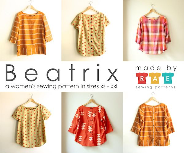 Beatrix Sewing Pattern PDF from made-by-rae.com / $16