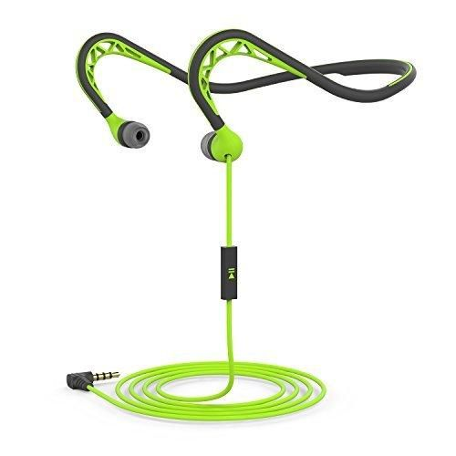 Neckband Sports EarbudWorkout Earphone with MicrophoneStereo Headset with Noise IsolatingSweatproof In-Ear Headphone for iPhone AndroidGreen