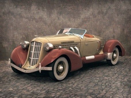 Auburn Speedster was introduced in 1934. It was powered by a super-charged 4.5l 8 cylinder engine featuring 150 HP, enough to reach 160 km/h. It was the last car produced by Auburn Automobile Company, which ceased its operation in 1936.