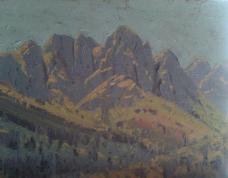 Jonkershoek  Oil on canvas  by Robert Koch