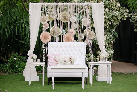 Shabby chic wedding ideas.
