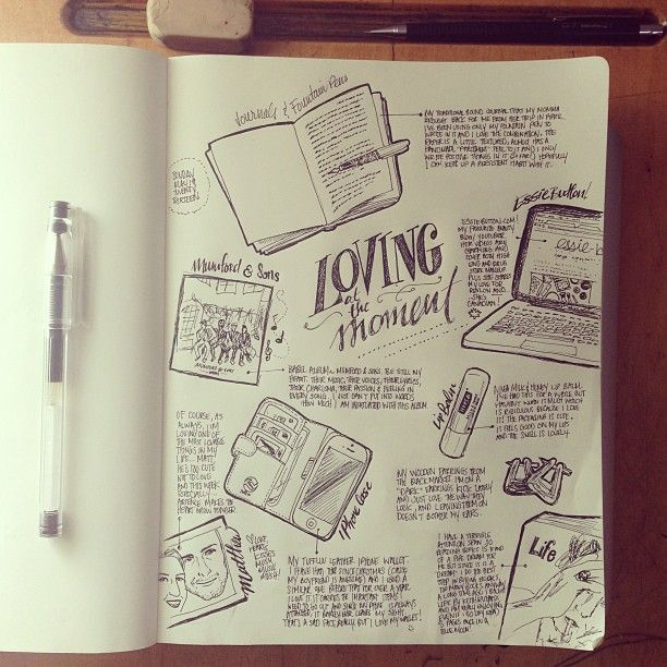 Writing in Notebooks - beejaedee: latest doodles! sketch journaling is...