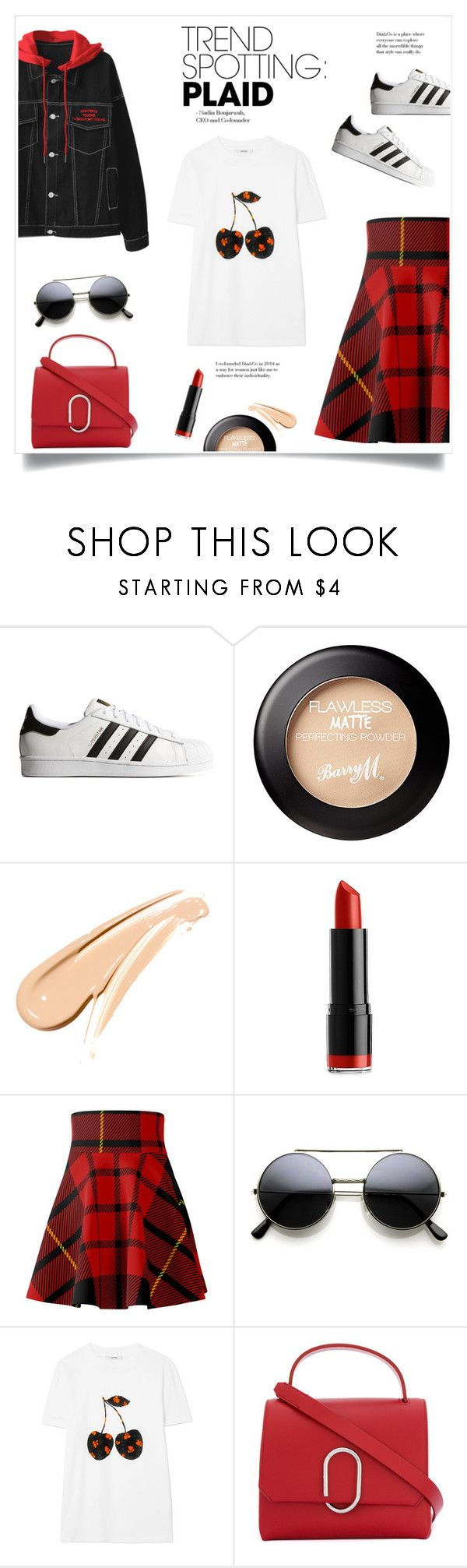 """Trend Spotting!"" by diane1234 ❤ liked on Polyvore featuring adidas Originals, NYX, Alexander McQueen, Ganni, 3.1 Phillip Lim, contestentry, topfashionproducts and NYFWPlaid"