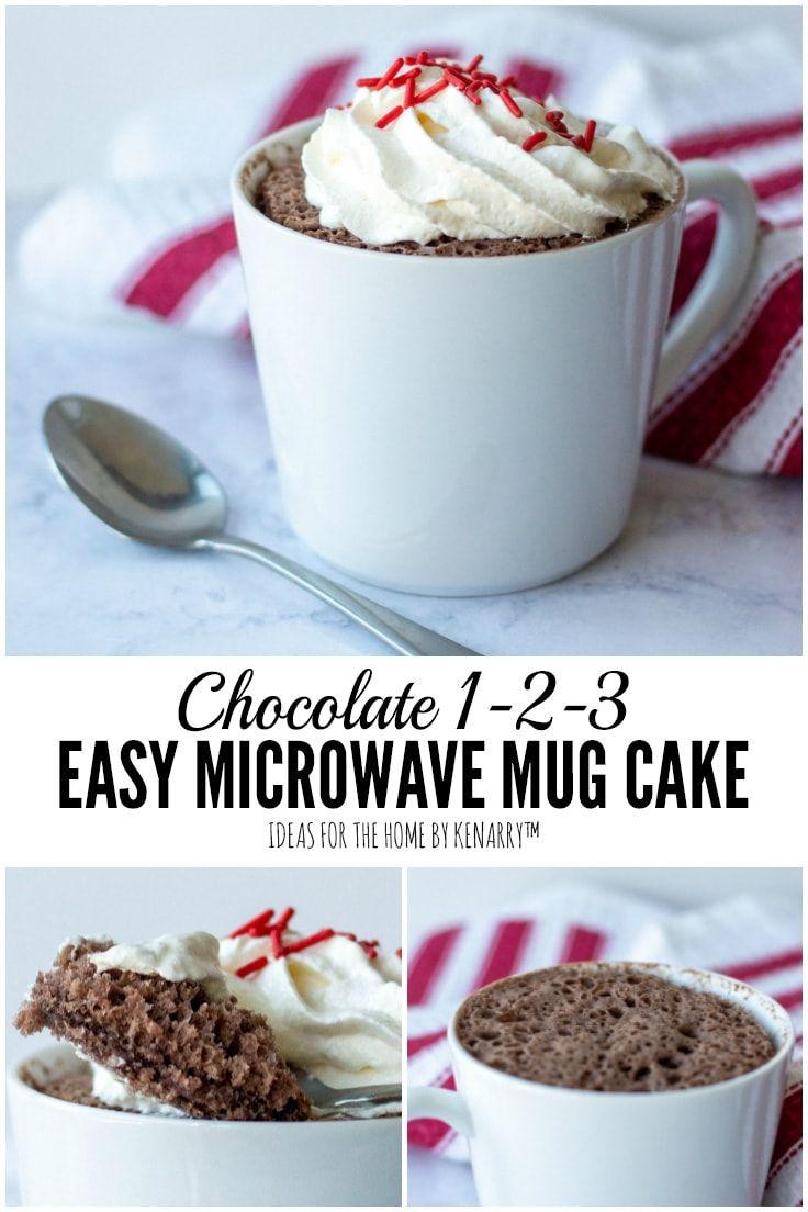 1 2 3 Mug Cake A Single Serving Dessert In A Cup Recipe Mug