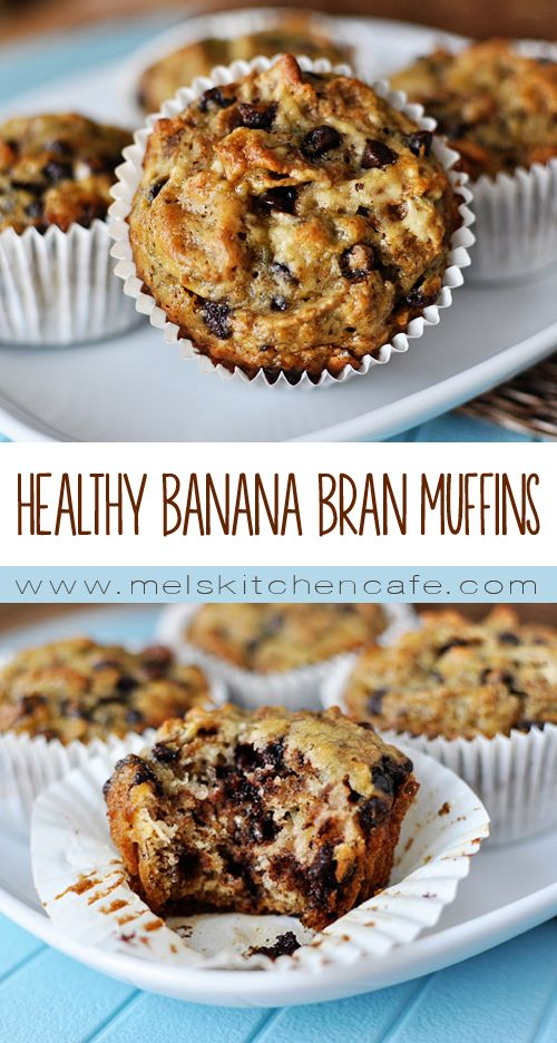 These Healthy Banana Bran Muffins are wonderful for breakfast or for snacking or for whatever you please.