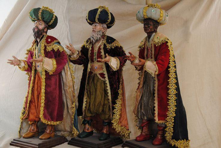 re magi 40 pastori presepe artesana pesebre napolitano los reyes magos creche | eBay