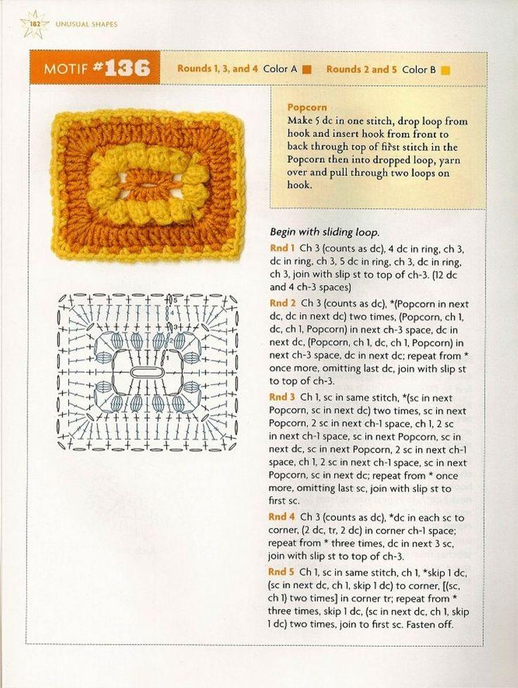 98 besten GRANNY RECTANGLE CROCHET Bilder auf Pinterest | Stricken ...