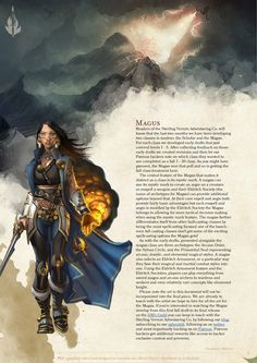 DnD 5e Homebrew — Magus Class by coolgamertagbro / Sterling Vermin