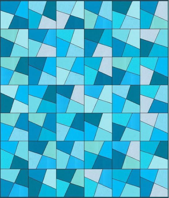 Shattered Glass Quilt Pattern | Create a gorgeous quilt that looks like stained glass with this free quilt pattern!