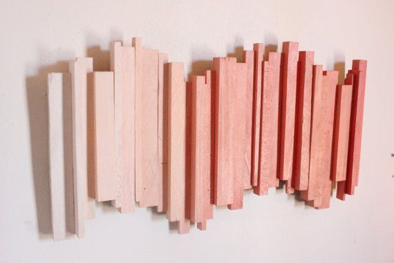 Ombre Reclaimed Wood Wall Art by cheshiresalvage on Etsy