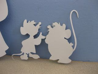 Cinderella Party decorations diy handmade cut-out mice