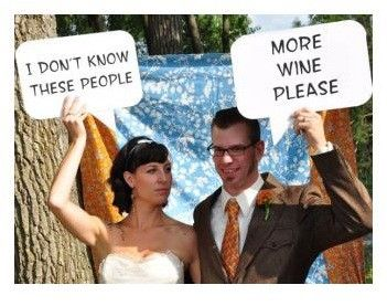 DIY photo booth idea...make various thought bubbles for guests to chose from