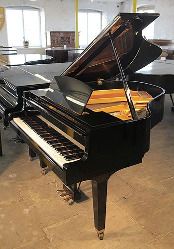 A Yamaha GH1  Grand Piano For Sale with a Black Case and Square Tapered Legs