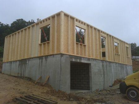maison bois construite sur sous sol rouen en seine maritime haute normandie maison projet. Black Bedroom Furniture Sets. Home Design Ideas