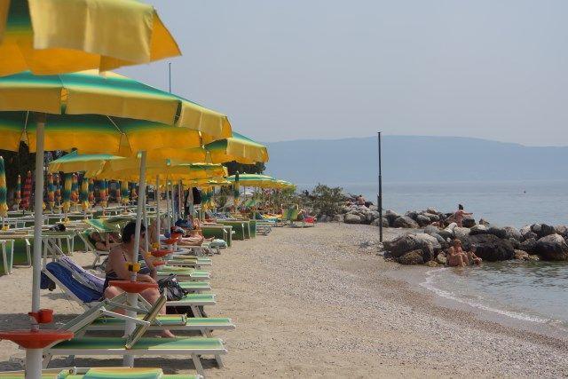 Map of #LakeGarda #Beaches - Spiaggia Lido Azzurro - Toscolano