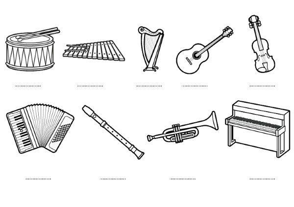 Instrumentos Musicales Dibujos Para Colorear E Imprimir раскраска