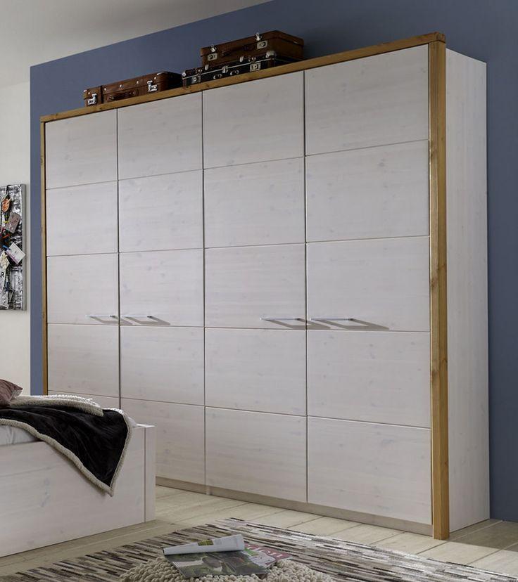 Kleiderschrank Kiefer massiv 5 Größen und 4 Farben lieferbar - Schlafzimmerschrank Kiefer Massiv