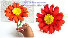 Llena los jarrones de casa de luz y color a partir de estas flores de goma eva que podrás elaborar con este tutorial.