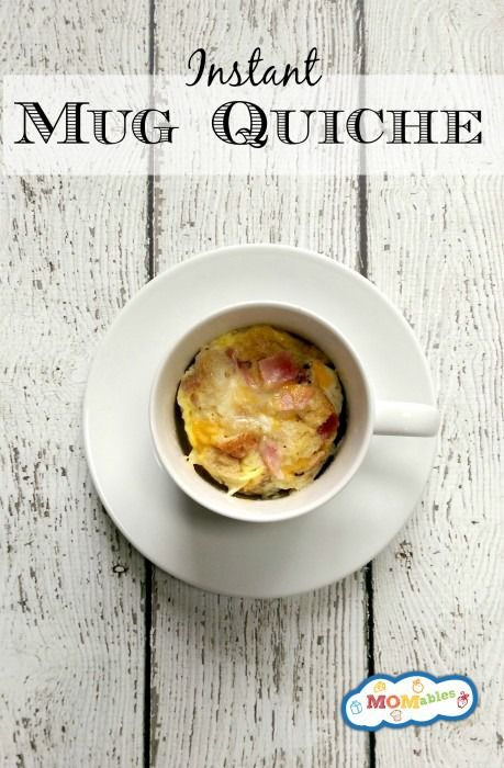 This instant mug quiche is the perfect quick breakfast for your kids or yourself! It is filling and your kids will love eating eggs out of a cup!