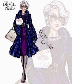 #Hayden Williams Fashion Illustrations  #The Devil Wears Prada collection by Hayden Williams: Miranda Priestly