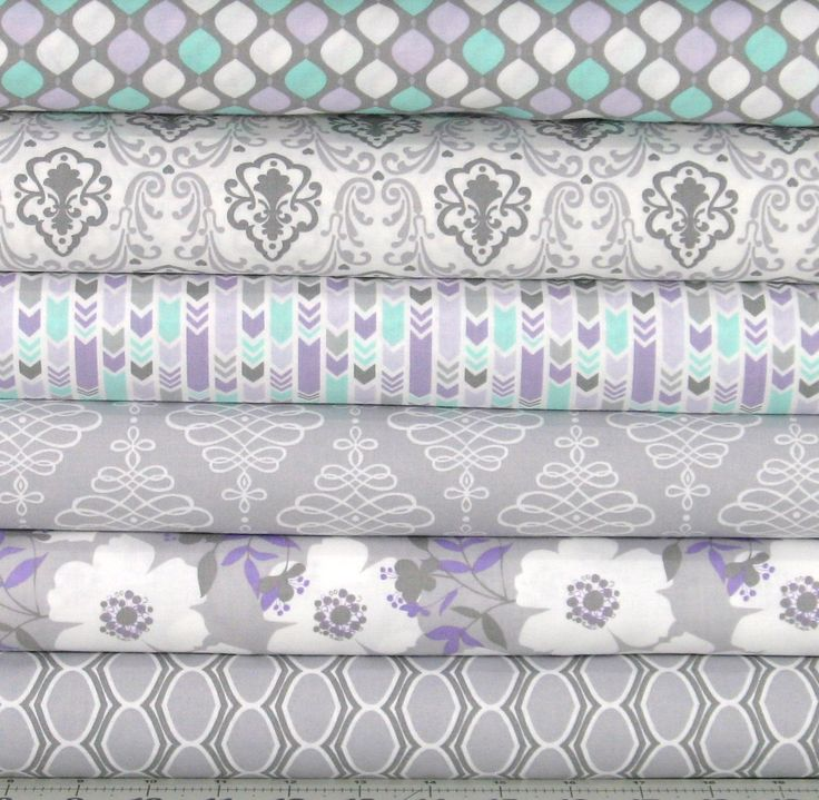 Light Purple, Mint Green, and Gray Cotton Quilt Fabric Bundle, Camelot Lavishmint Collection, CAMLavishGray, Fat Quarter, Yardage, Grey by fabric406 on Etsy