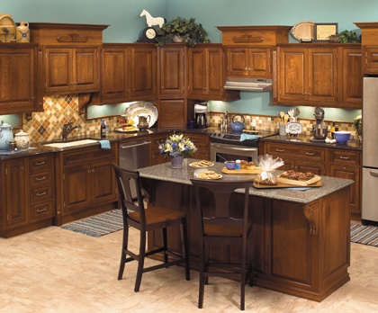 Starmark Cabinetry Laforest Inset Door Style In Cherry Finished Nutmeg