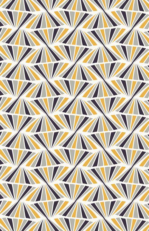 Contemporary diamond like pattern.
