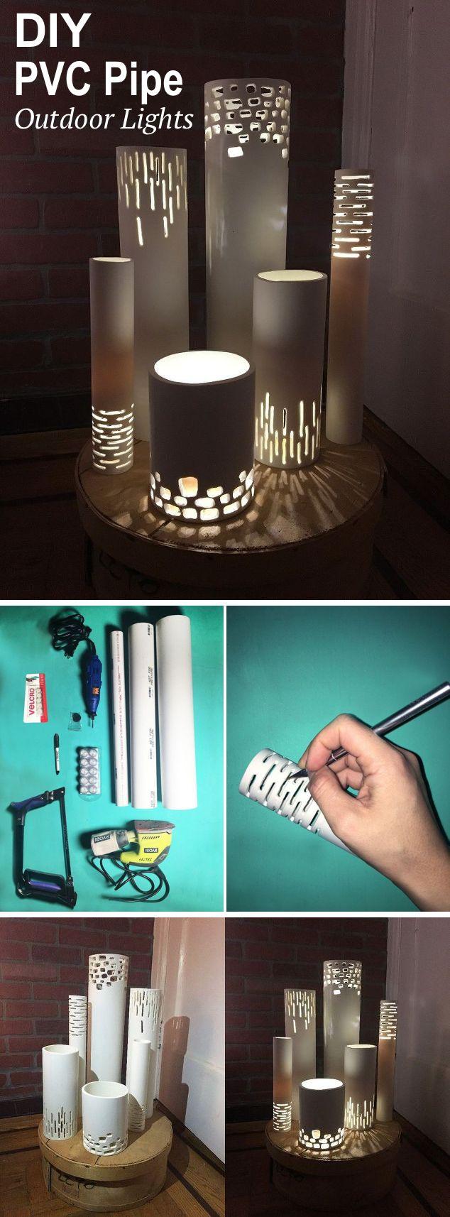 DIY PVC Pipe Lights