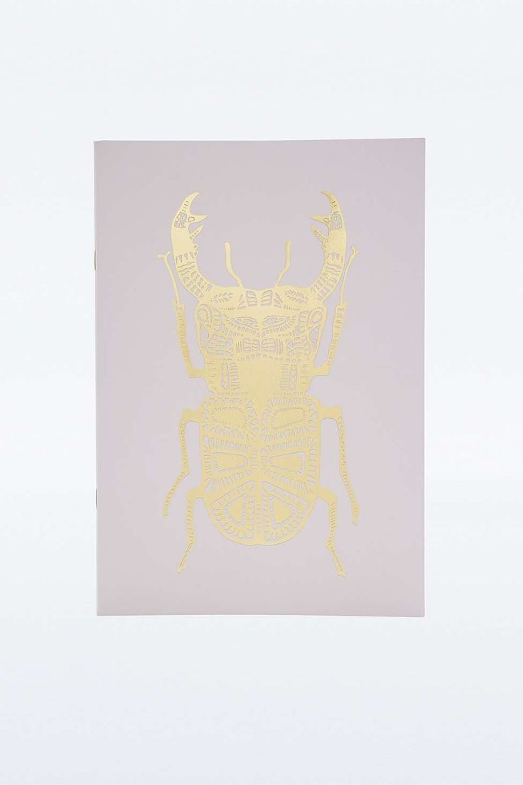 Gold Stag Beetle Notebook - Urban Outfitters