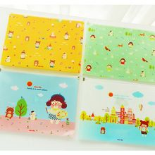 Kawaii Dosya Klasör PVC Su Geçirmez Dosya Çanta Sevimli Belge Klasörleri Okul Ofis Kırtasiye hediye(China (Mainland))