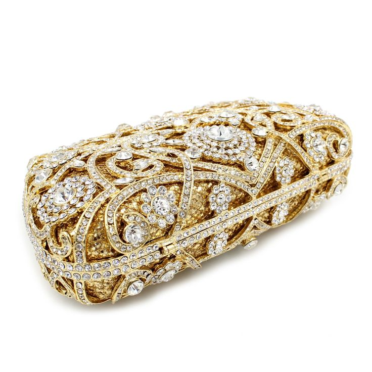 NATASSIE Evening Bags Ladies Wedding Party Bag Crystal Gold Clutch Women Diamonds Purses #eveningbag #eveninclutch #clutch #ninclutch