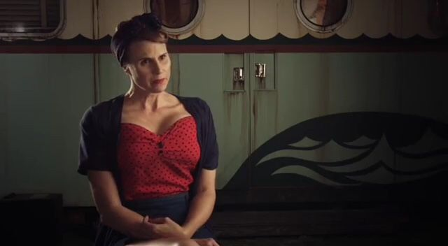 "Erika Ervin as ""Amazon Eve"" in ""AHS Freak Show"""