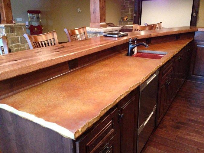 Chiseled Edge Concrete Countertops Custom Crete Werks LLC Racine, WI