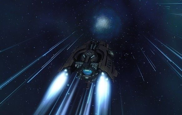 First ever warp in Space by the 'Yamato'