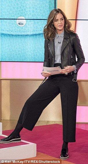Age is but a number: The What Not To Wear host cut a fashionable figure in culottes, a str...