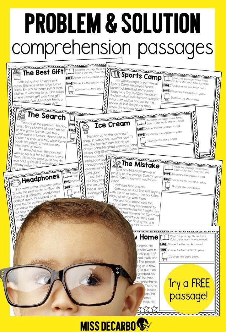 20 manageable passages that focus on identifying the Problem and Solution of the story. Having a set of focused passages makes it easy to follow-up with your whole group mini lessons and comprehension lessons within your small groups. Or, use some of the