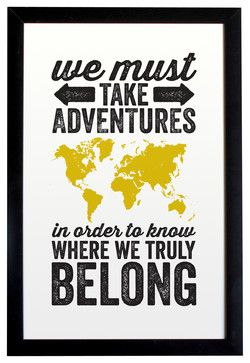 Adventures World Map Travel Poster, Unframed - modern - Novelty Signs - The Oyster's Pearl